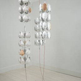'A Coin In Nine Hands' Part 5: Alice Channer (Carapaces) @Large Glass, London  - GalleriesNow.net