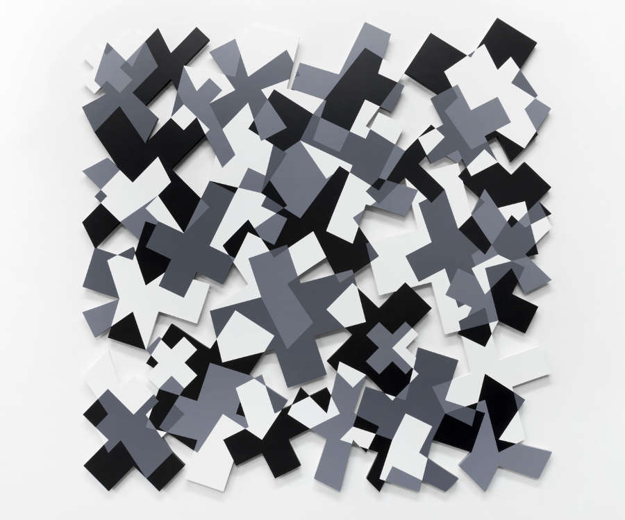 Nathan Cohen, Crossings, 2014, Acrylic paint on cut panel (C) Nathan Cohen, Courtesy of Flowers Gallery