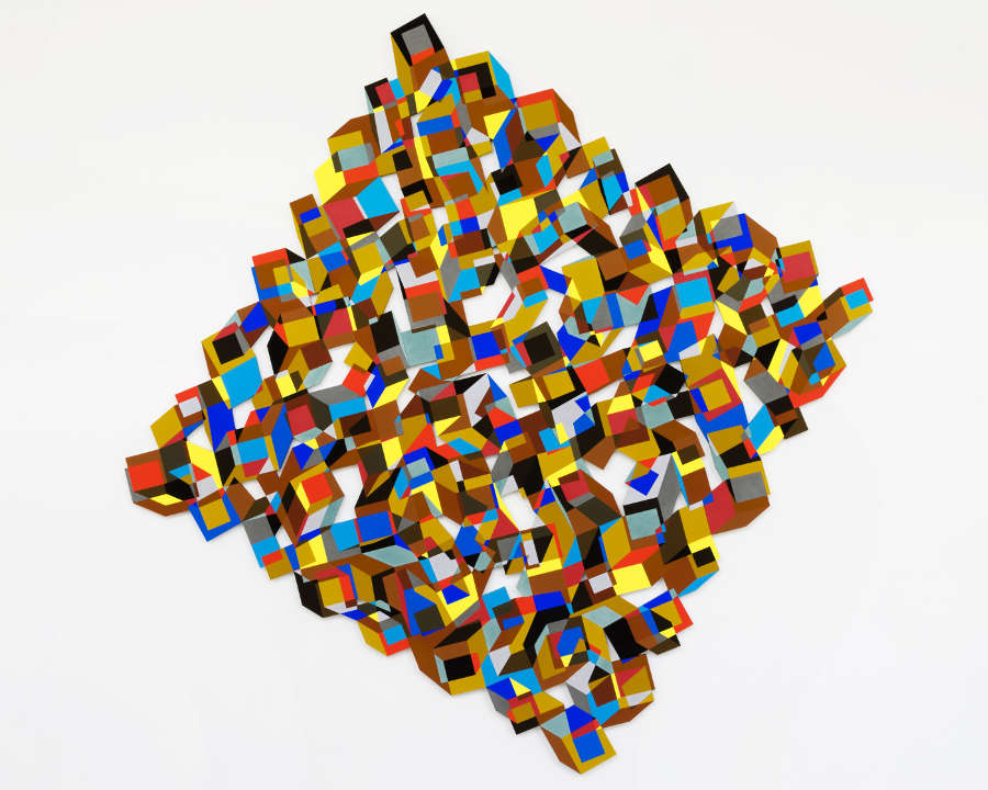 Nathan Cohen, Mosaic, 2018, Pigment and casein on cut panel, (c) Nathan Cohen, Courtesy of Flowers Gallery