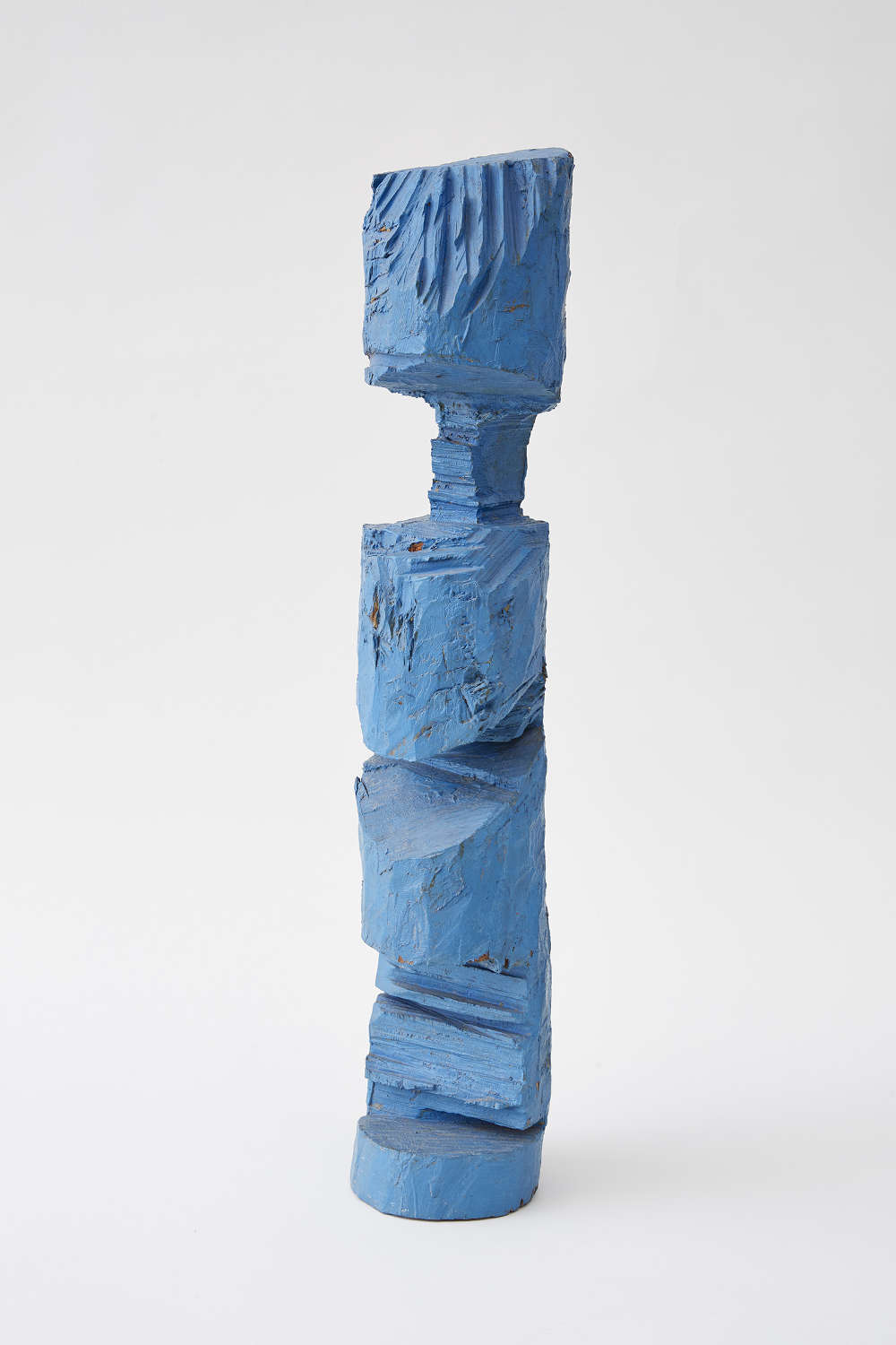 """A.R. Penck, """"Kleiner Totem (Little Totem)"""", 1986. Painted wood 30 x 6 1/4 x 6 1/2 inches 76 x 16 x 17 cm"""
