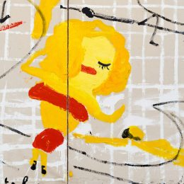 Rose Wylie: Lolita's House @David Zwirner, London, London  - GalleriesNow.net
