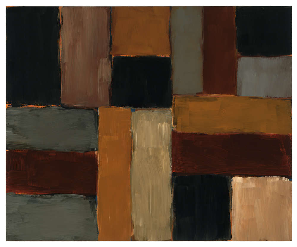 Sean Scully, Bars of Light, 2002. Oil on linen 45 x 55 inches (114.3 x 139.7 cm) Artwork © 2002 Sean Scully