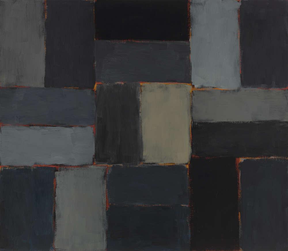 Sean Scully, Night, 2003. Oil on linen 84 x 96 inches (213.4 x 243.8 cm) Artwork © 2003 Sean Scully