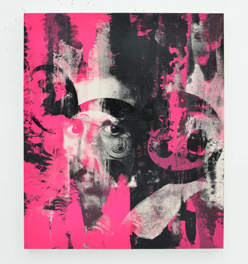 Takashi Murakami and Virgil Abloh, Glance past the future, 2018. Acrylic on canvas mounted on aluminum frame 1410 x 1200mm ©︎ Virgil Abloh ©︎ Takashi Murakami