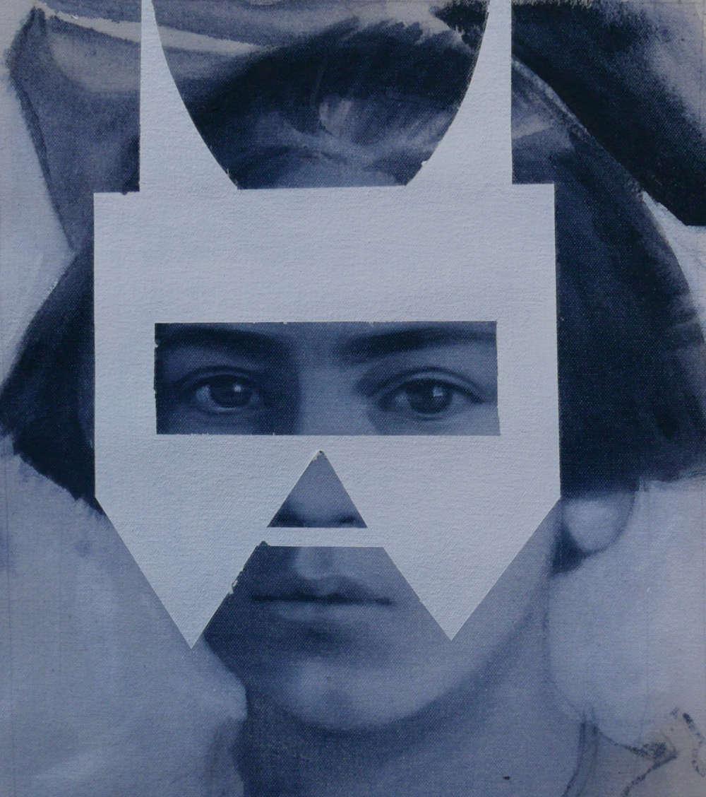 Giulia Andreani, Bambina, 2018. Acrylic on canvas 27 x 24 cm (10.63 x 9.45 inches)