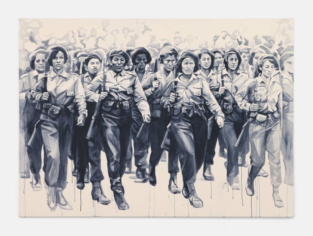 Giulia Andreani, Guérillères , 2017. Acrylic on canvas 150 x 200 cm (59.06 x 78.74 inches)
