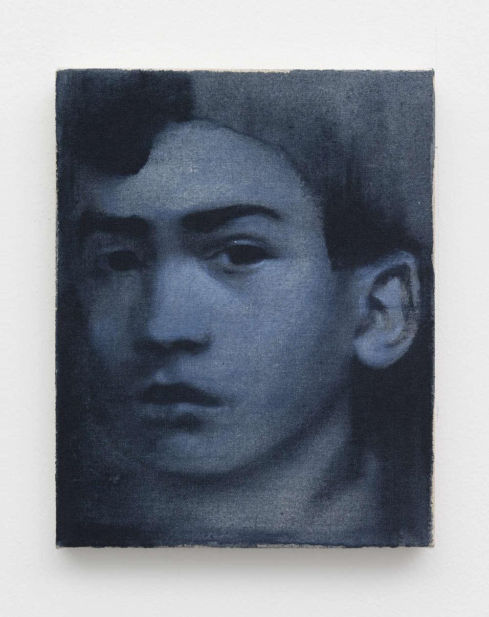 Giulia Andreani, Pasolini, 2017. Acrylic on canvas 24 x 19 cm (9.45 x 7.48 inches)