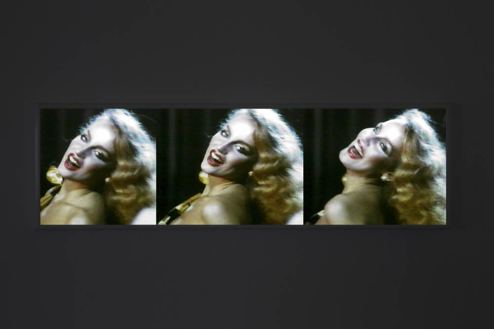 TJ Wilcox, The Jerry Hall Story, 2017. LED lightbox, duratrans print 65.5 x 217.4 x 9.5 cm (25.79 x 85.59 x 3.74 inches). Edition 1 of 1, with 1 AP