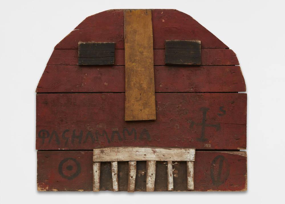 Joaquín Torres-García, Representación de la Tierra-Pachamama [Representation of Earth-Pachamama], 1944. Oil on wood, 20 x 34 5/8 x 2 inches (76.2 x 87.9 x 5.1 cm)