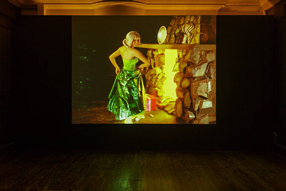Ericka Beckman, Cinderella, 1986. 16mm transferred to HD video, colour, sound, 28'30 mins. Installation view, Zabludowicz Collection, London, 2018. © The artist, courtesy Zabludowicz Collection. Photo: Tim Bowditch