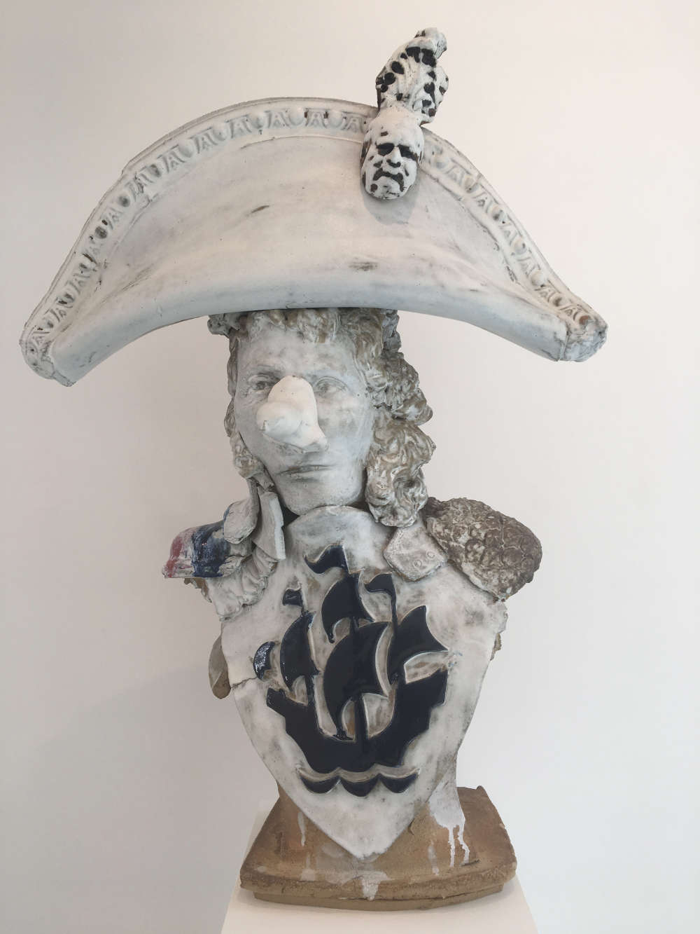 Marcus Harvey, The White Duke, 2018. Glazed stoneware 86 x 60 x 31 cm
