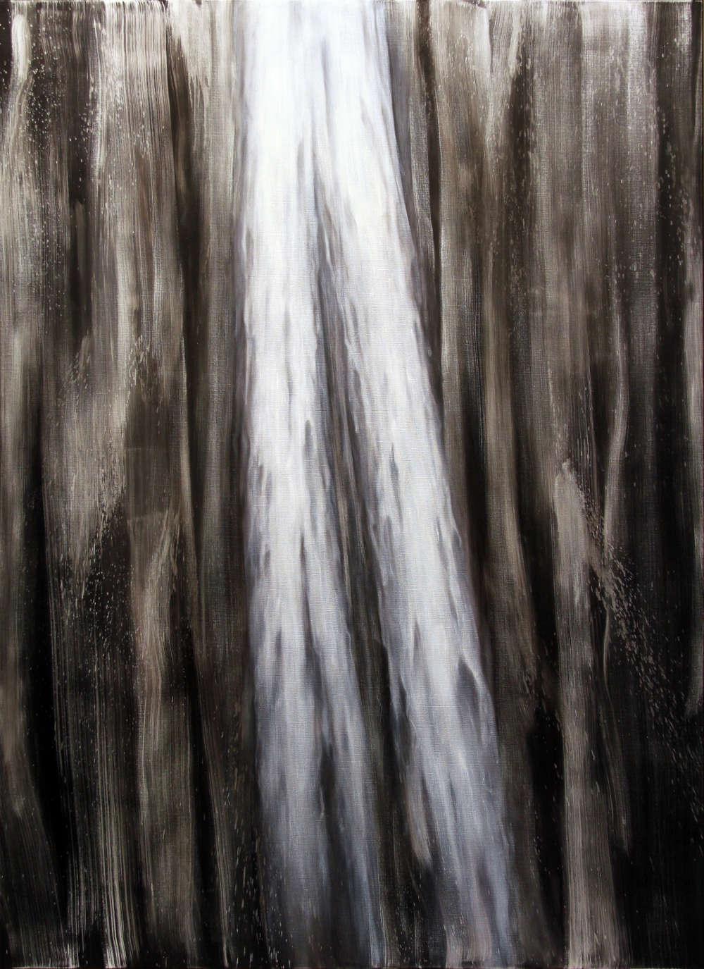 Andrew Browne, Descent, 2018. Oil on linen 240 x 175 cm