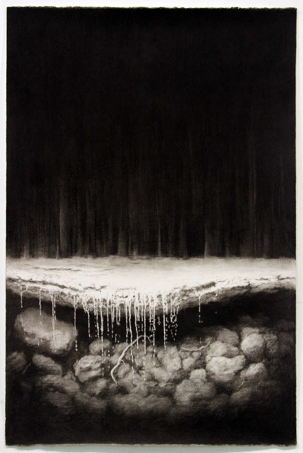 Andrew Browne, Study after Fall #2, 2018. Charcoal on paper 80.2 x 121 cm