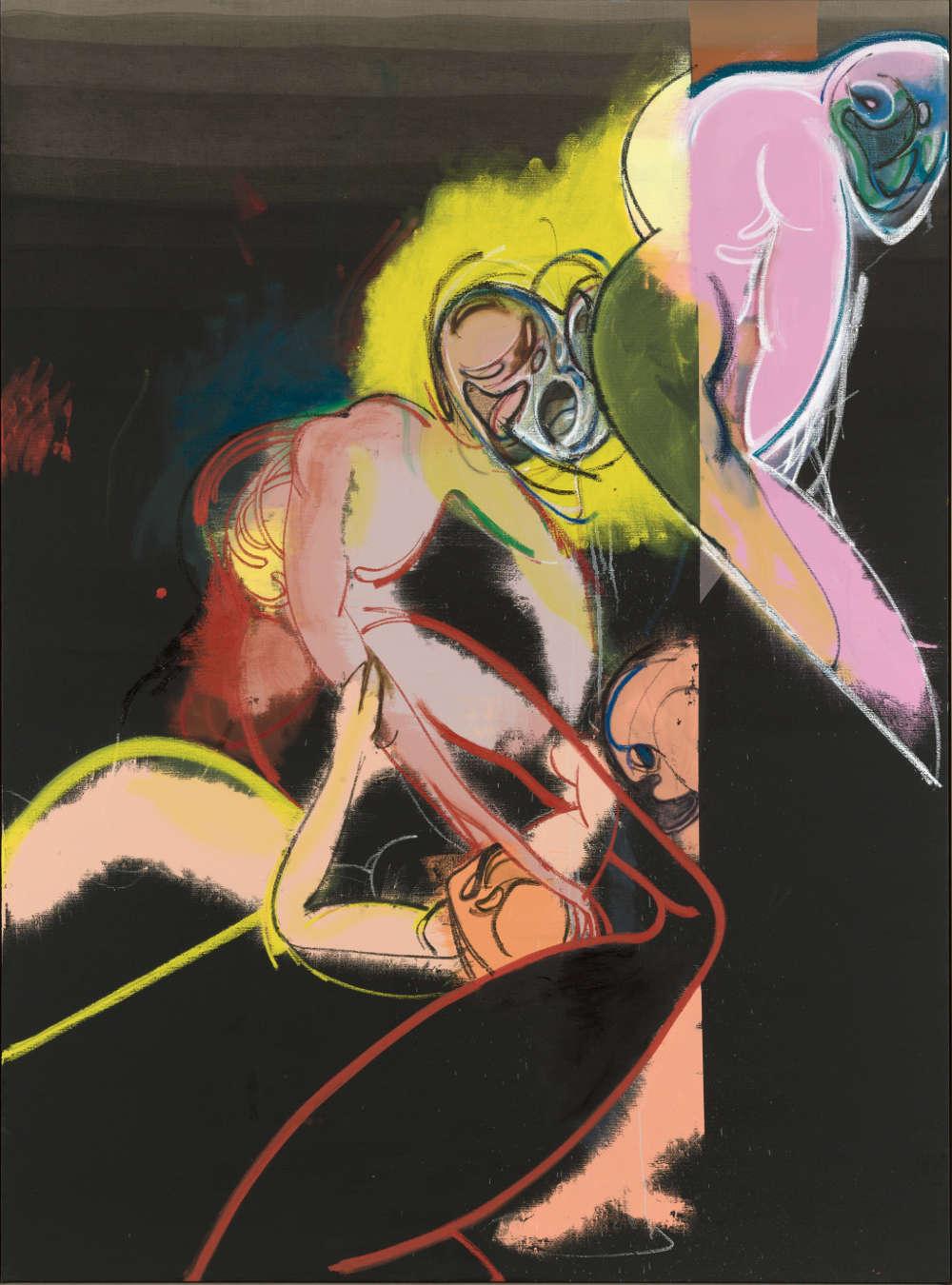 Daniel Richter, They thenmen took over then, 2018. Oil on canvas 230 x 170 cm (90,55 x 66,93 in) Courtesy Galerie Thaddaeus Ropac, London · Paris · Salzburg © Daniel Richter/DACS, London 2018. Photo: Jochen Littkemann
