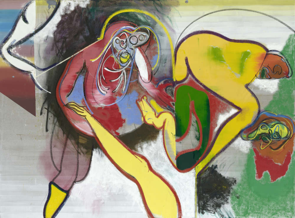 Daniel Richter, Sunday Afternoon, 2018. Oil on canvas 200 x 270 cm (78,74 x 106,3 in) © Daniel Richter/DACS, London 2018. Photo: Jochen Littkemann. Courtesy Galerie Thaddaeus Ropac, London · Paris · Salzburg