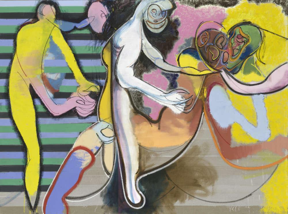 Daniel Richter, Casting, 2018. Oil on canvas 200 x 270 cm (78,74 x 106,3 in) © Daniel Richter/DACS, London 2018. Photo: Jochen Littkemann. Courtesy Galerie Thaddaeus Ropac, London · Paris · Salzburg