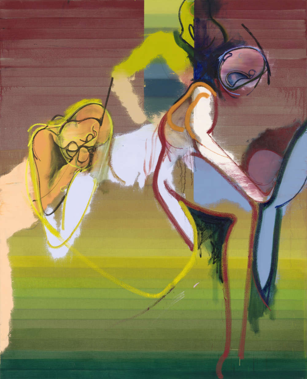 Daniel Richter, What was her name, 2018. Oil on canvas 210 x 170 cm (82,68 x 66,93 in) © Daniel Richter/DACS, London 2018. Photo: Jochen Littkemann. Courtesy Galerie Thaddaeus Ropac, London · Paris · Salzburg
