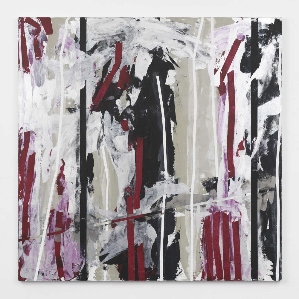 Heimo Zobernig, Untitled, 2013. Acrylic on canvas 200 x 200 cm (78 3/4 x 78 3/4 in.) Courtesy of the artist and Simon Lee Gallery