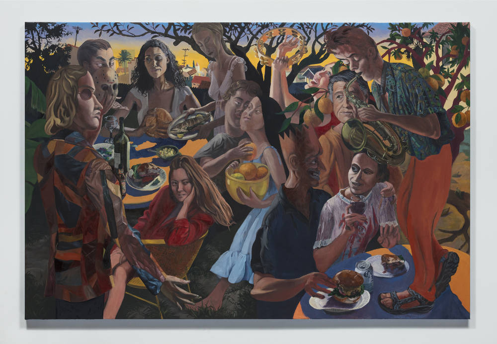 Justin John Greene, Welcome to Our Mess, 2018. Oil on canvas 121.9 x 182.9 cm (48 x 72 in.) Courtesy of the artist and Simon Lee Gallery