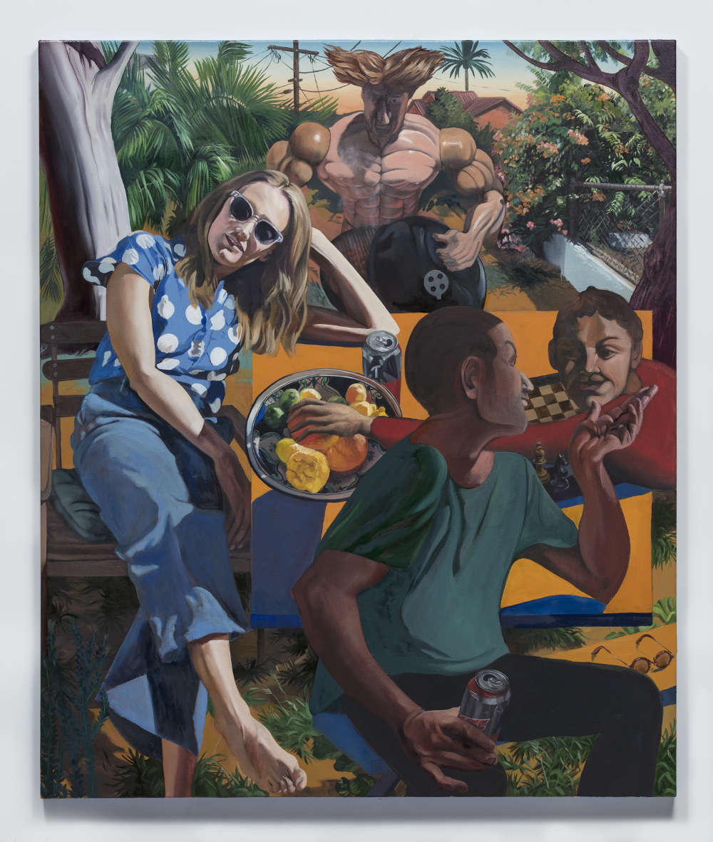 Justin John Greene, Yard Sale Hero, 2018. Oil on canvas 127 x 106.7 cm (50 x 42 in.) Courtesy of the artist and Simon Lee Gallery