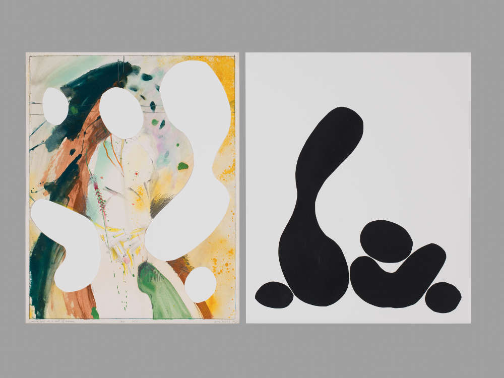 Mike Kelley, Untitled (Collages 1974-2011), 1974-2011. Mixed media and collage on paper 2 parts: 61 x 48.3 cm / 24 x 19 inches; 61 x 50.8 cm / 24 x 20 in © Mike Kelley Foundation for the Arts. All Rights Reserved/VAGA at ARS, NY, Courtesy the Foundation and Hauser & Wirth.