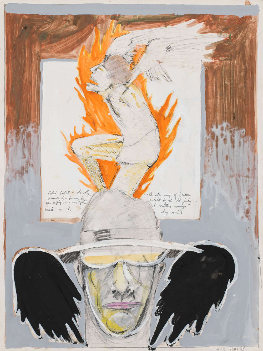 Mike Kelley, Untitled (Student Drawing), 1974. Mixed media on paper 61 x 45.7 cm / 24 x 18 in. Photo: Fredrik Nilsen © Mike Kelley Foundation for the Arts. All Rights Reserved/VAGA at ARS, NY, Courtesy the Foundation and Hauser & Wirth.