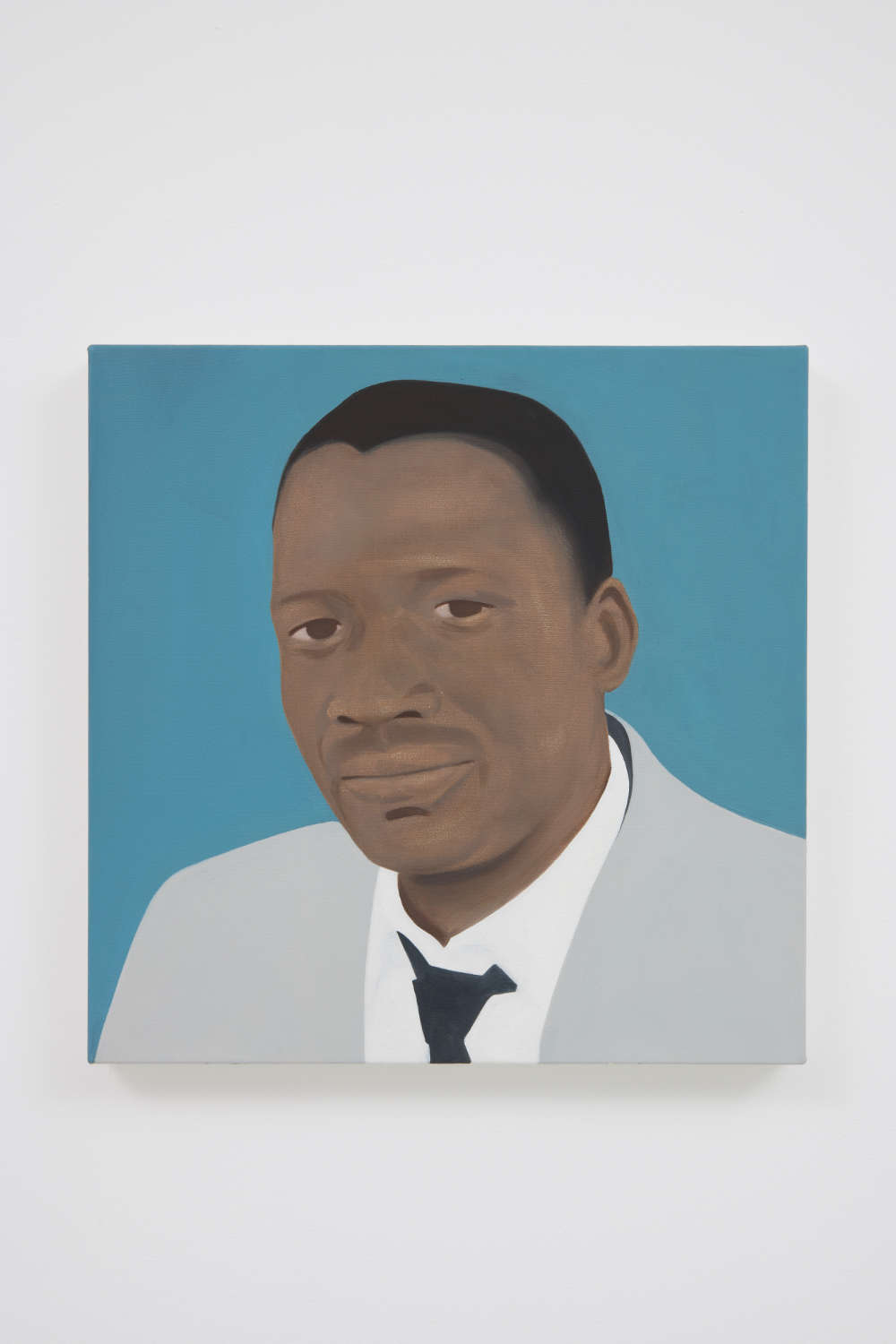 Thenjiwe Niki Nkosi, Sobukwe (After Robert Sobukwe), 2017. Oil on canvas 19.68 x 19.68 in (50 x 50 cm) Courtesy of the artist and Roberts Projects, Los Angeles, California. Photo Robert Wedemeyer