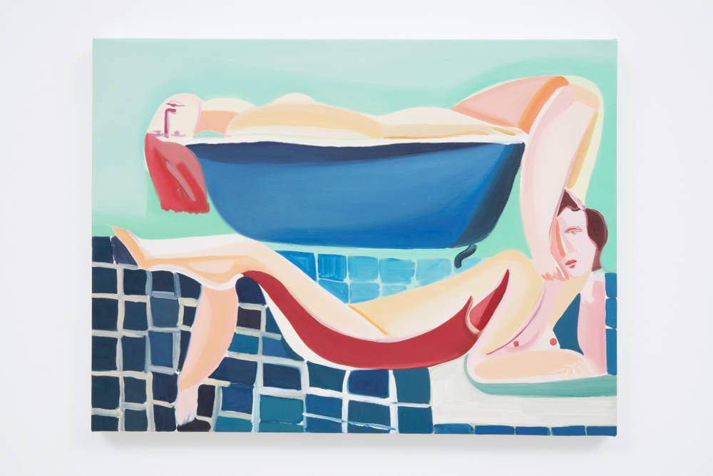 Danielle Orchard, Small Bathers, 2018. Oil on linen 18 x 24 in (45.7 x 61.0 cm) Courtesy of the artist and Roberts Projects, Los Angeles, California. Photo Robert Wedemeyer