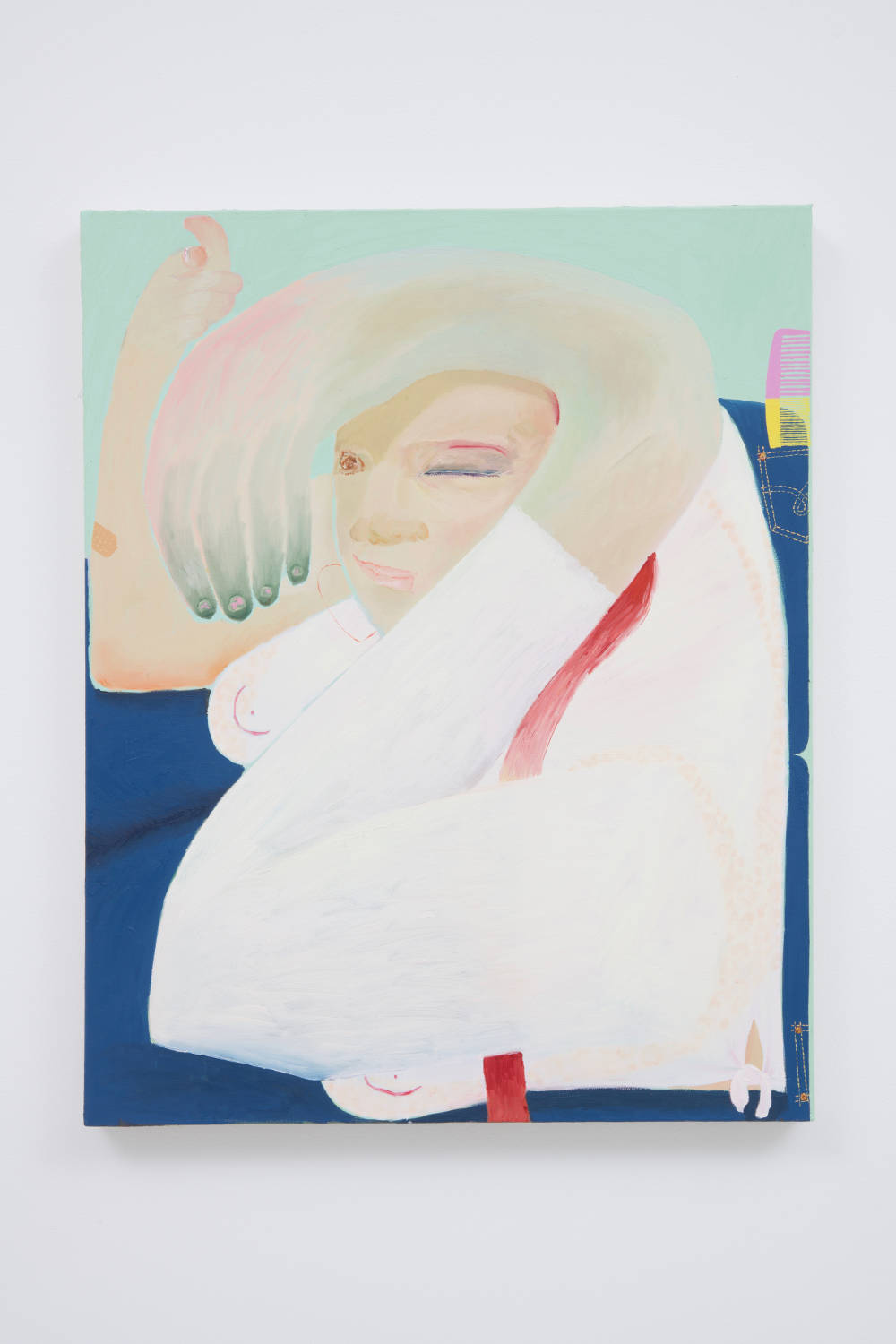 Celeste Rapone, Flirt, 2018. Oil on canvas 30 x 24 in (76.2 x 61.0 cm) Courtesy of the artist and Roberts Projects, Los Angeles, California. Photo Robert Wedemeyer