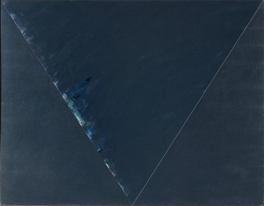 Claudio Verna, Aegizio '78, 1978. Oil on canvas 140 x 180 cm 55.1 x 70.8 inch.