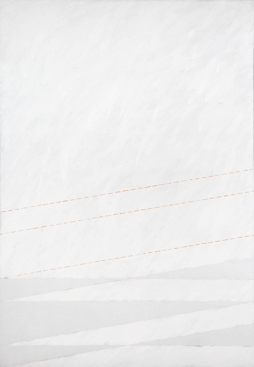 Claudio Verna, Bianco obliquo II, 1976. Oil on canvas 200 x 140 cm 78.7 x 55.1 inch.
