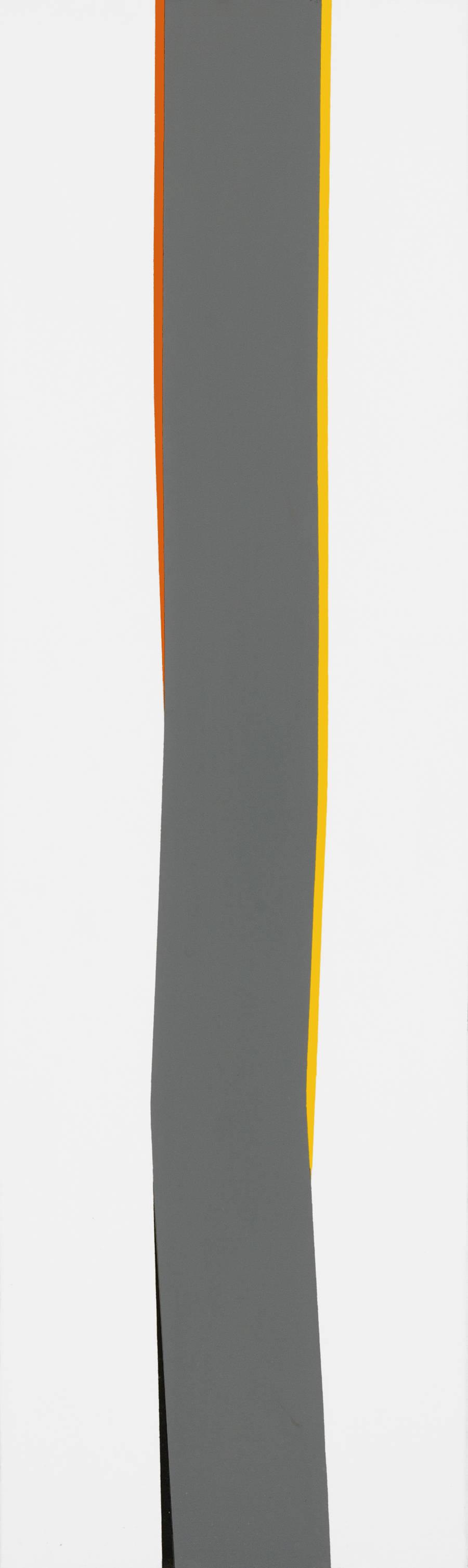 Claudio Verna, Colonna, 1967. Oil on canvas 200 x 60 cm 78.7 x 23.6 inch.