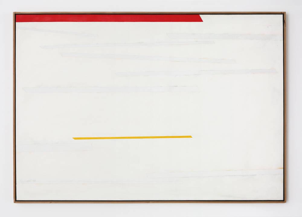 Claudio Verna, Orizzontale, 1977. Oil on canvas 90 x 130 cm 35.4 x 51.1 inch.