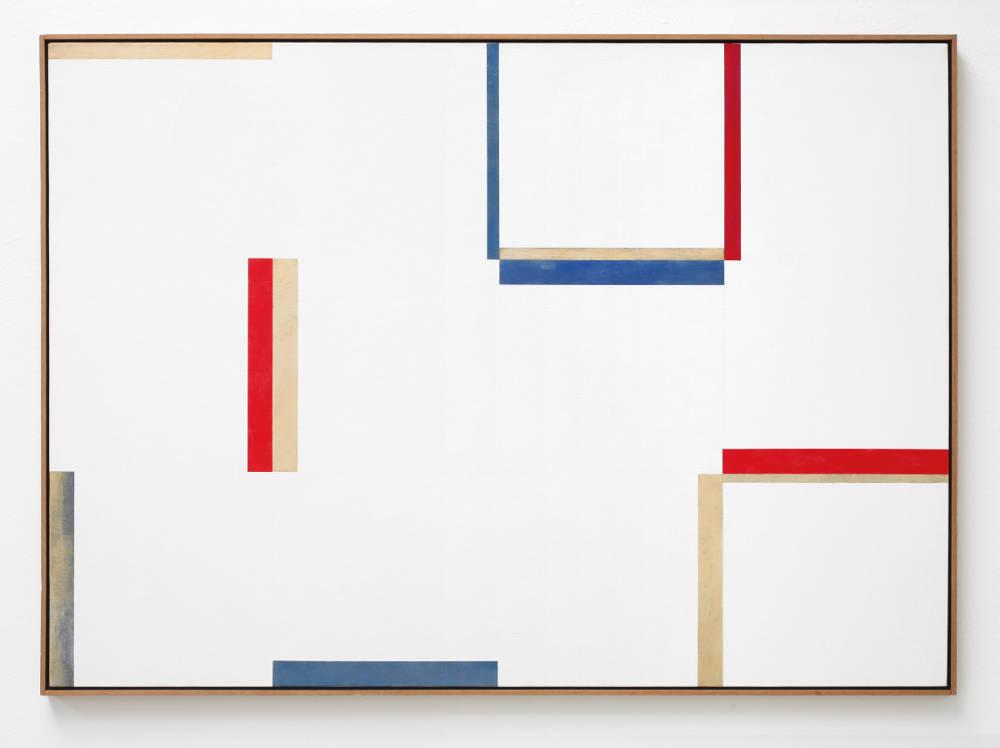 Claudio Verna, Pittura, 1974. Acrylic on canvas 100 x 140 cm 39.3 x 55.1 inch.