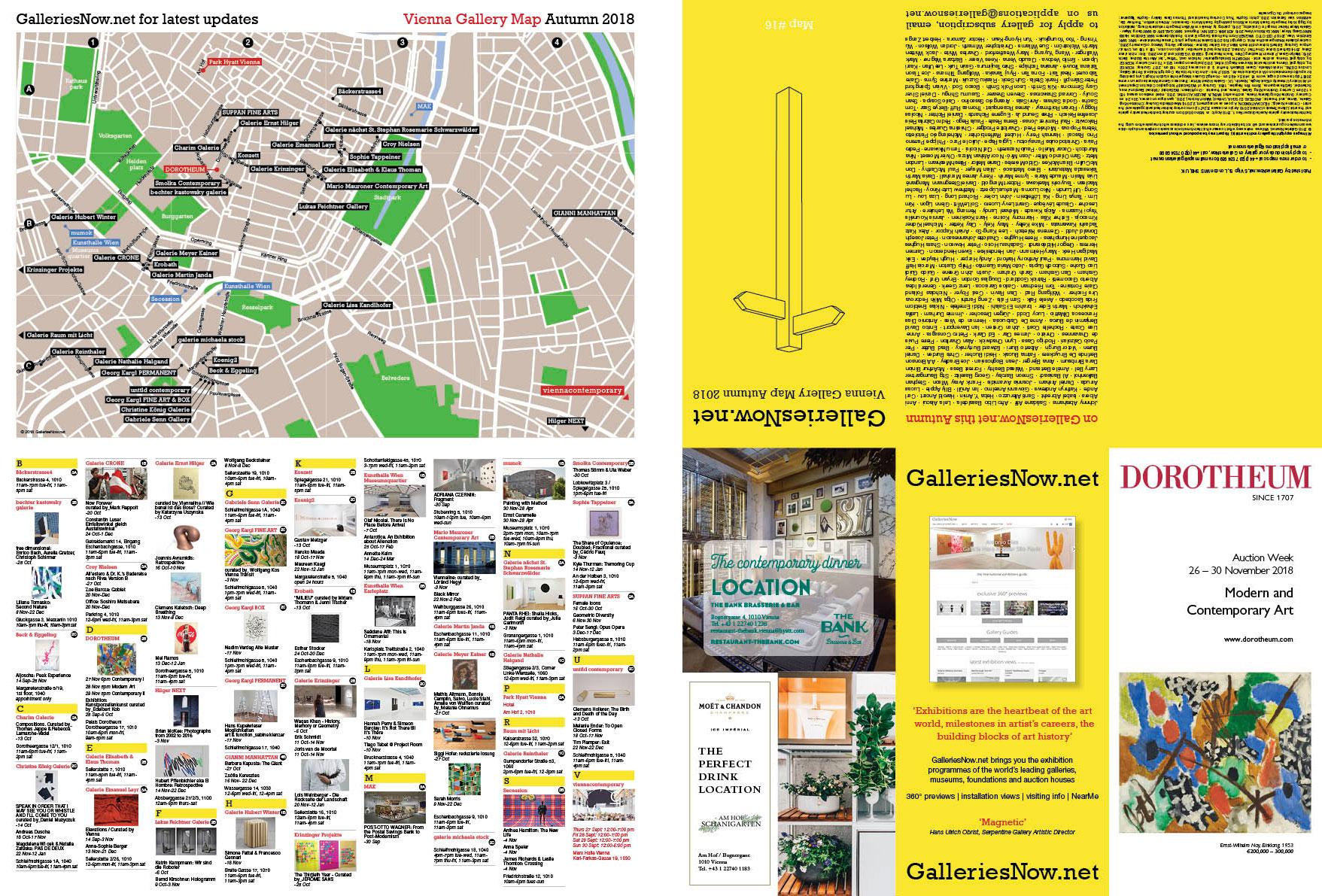 GalleriesNow Vienna Gallery Map - Autumn 2018