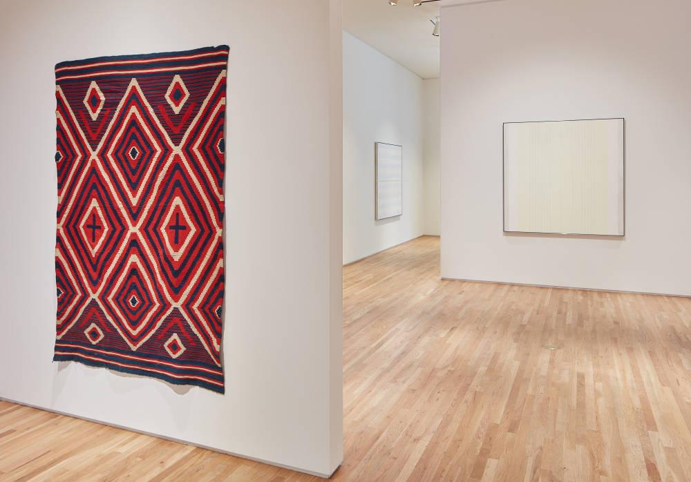 Agnes Martin Navajo Blankets