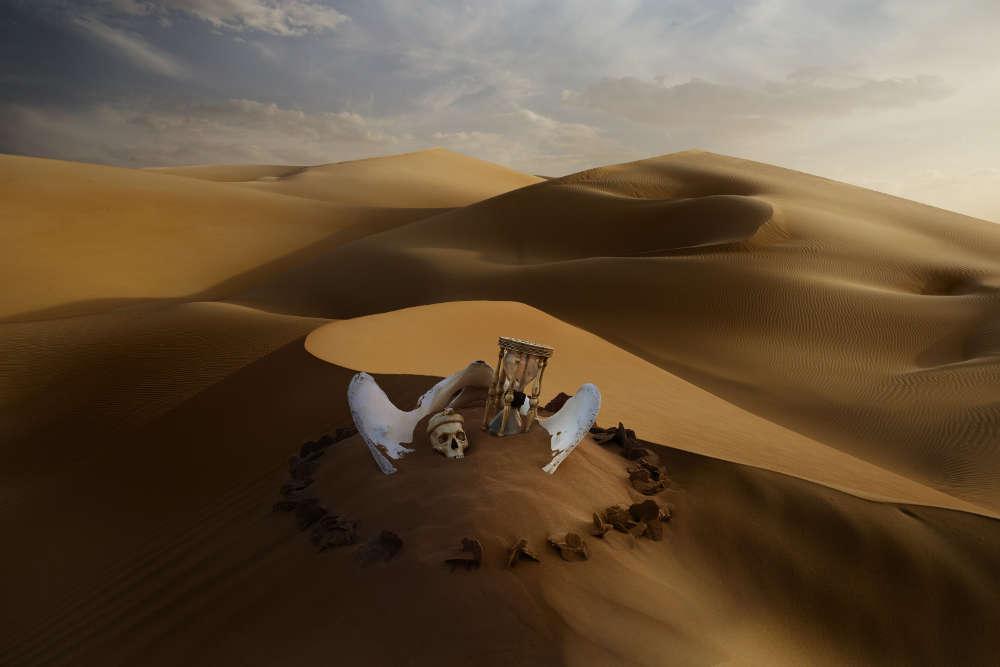 Anne de Carbuccia (b. New York, 1968), Liwa, Dusk. Rub'Al Khali, Abu Dhabi, Middle East, May 2014. Photography Ed. 4/5 102.5 x 152.5 cm 40 3/8 x 60 1/8 in