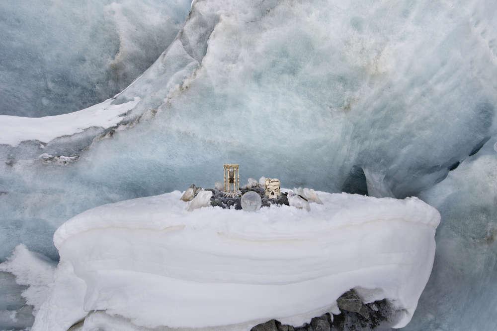 Anne de Carbuccia, (b. New York, 1968), Receding Glacier 1. Morteratsch, Engadina, Switzerland, Europe, March 2014. Photography Ed. 1/5 102.5 x 152.5 cm 40 3/8 x 60 1/8 in