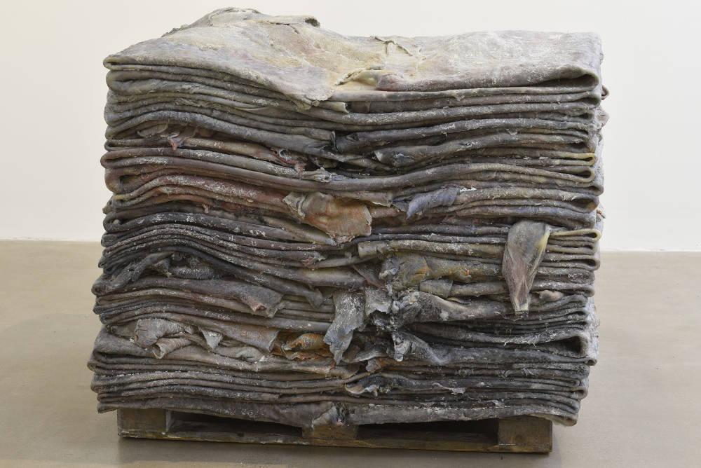 Berlinde De Bruyckere, Anderlecht III, 2018. Wax, iron, epoxy 116 x 146 x 128 cm / 45 5/8 x 57 1/2 x 50 3/8 in © Berlinde De Bruyckere. Courtesy of the artist and Hauser & Wirth. Photo: Mirjam Devriendt
