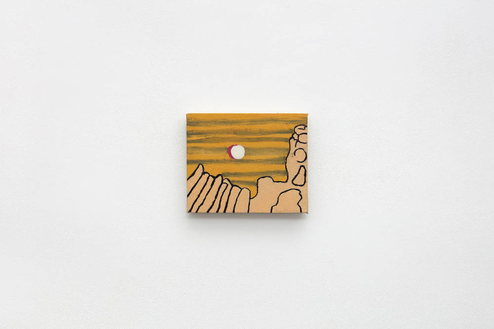 Forrest Bess, Untitled, 1970, oil on canvas, 25.7 x 31.1 cm, 10 1/8 x 12 1/4 ins. Courtesy Stuart Shave/Modern Art, London