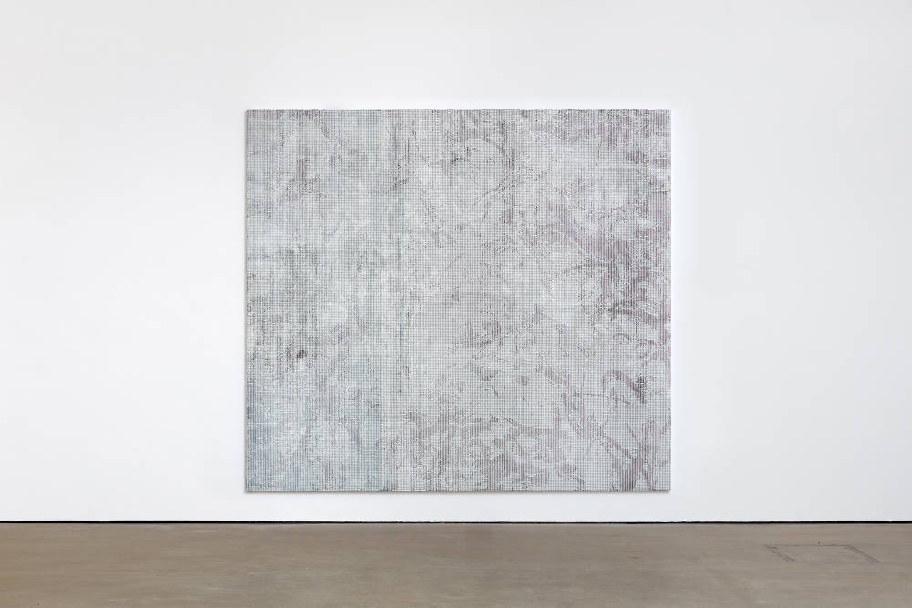 Jacqueline Humphries, .,:;,, 2018, oil on linen, 289.6 x 322.6 cm, 114 x 127 ins. Photo: Robert Glowacki. © Jacqueline Humphries. Courtesy Stuart Shave/Modern Art, London