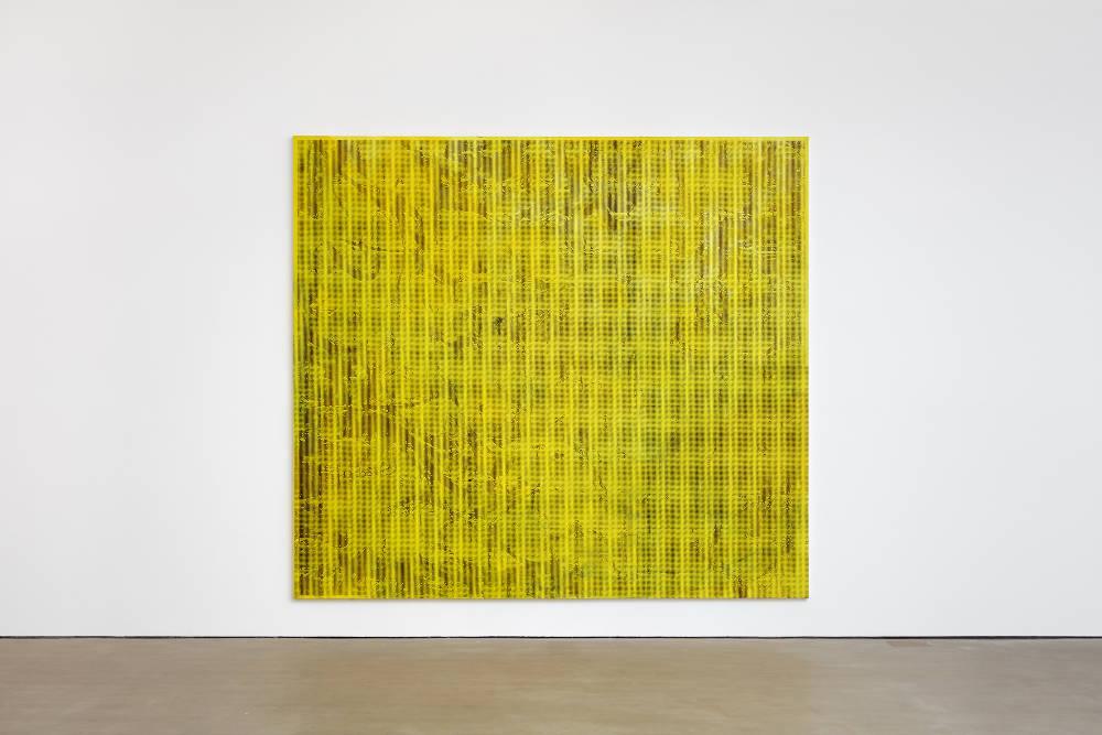 Jacqueline Humphries, .,:;:)y, 2018, oil on linen, 289.6 x 322.6 cm, 114 x 127 ins. Photo: Robert Glowacki. © Jacqueline Humphries. Courtesy Stuart Shave/Modern Art, London