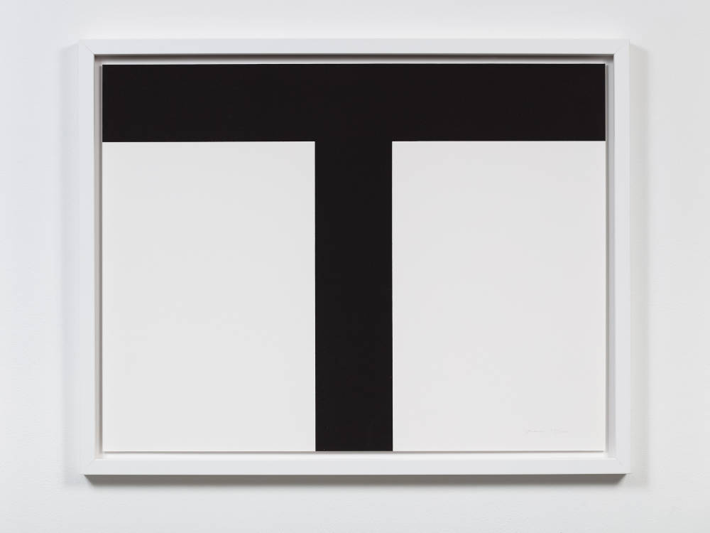 Olivier Mosset, TUM', MUTT, TUTU, 2014. 12 lithograph prints on Rives Paper, 50 x 65cm each. Letter T: edition of 100