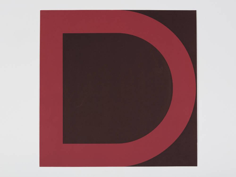 Olivier Mosset, Répétitions et Variations, 2007. Silkscreens (series of 17 triptychs), 60 x 60cm, Number 6 of 17. Courtesy of Gilles Drouault, Gallerie de Multiples, Paris
