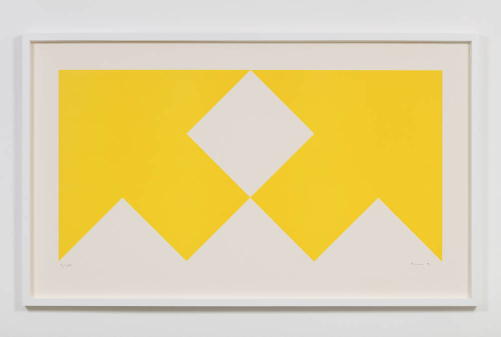 Olivier Mosset, Untitled, 1991. Print, Edition of 100, 68 x 116cm