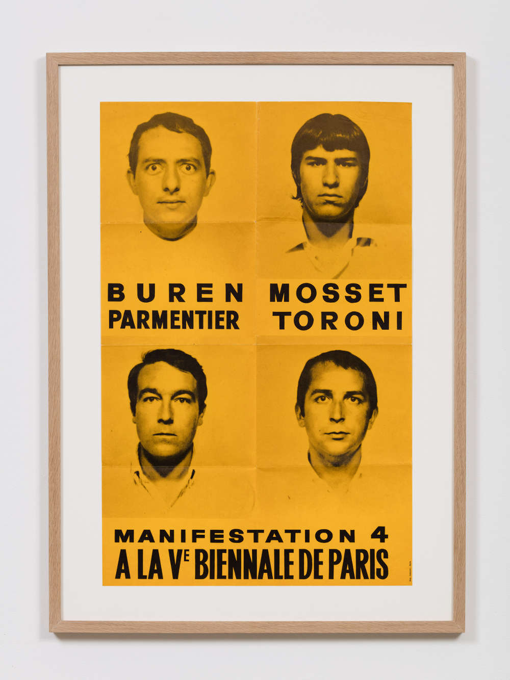 Poster for Manifestation 4, at 4th Paris Biennale, September 1967, which was the forth and last appearance of the BMPT group, 595 x 380mm