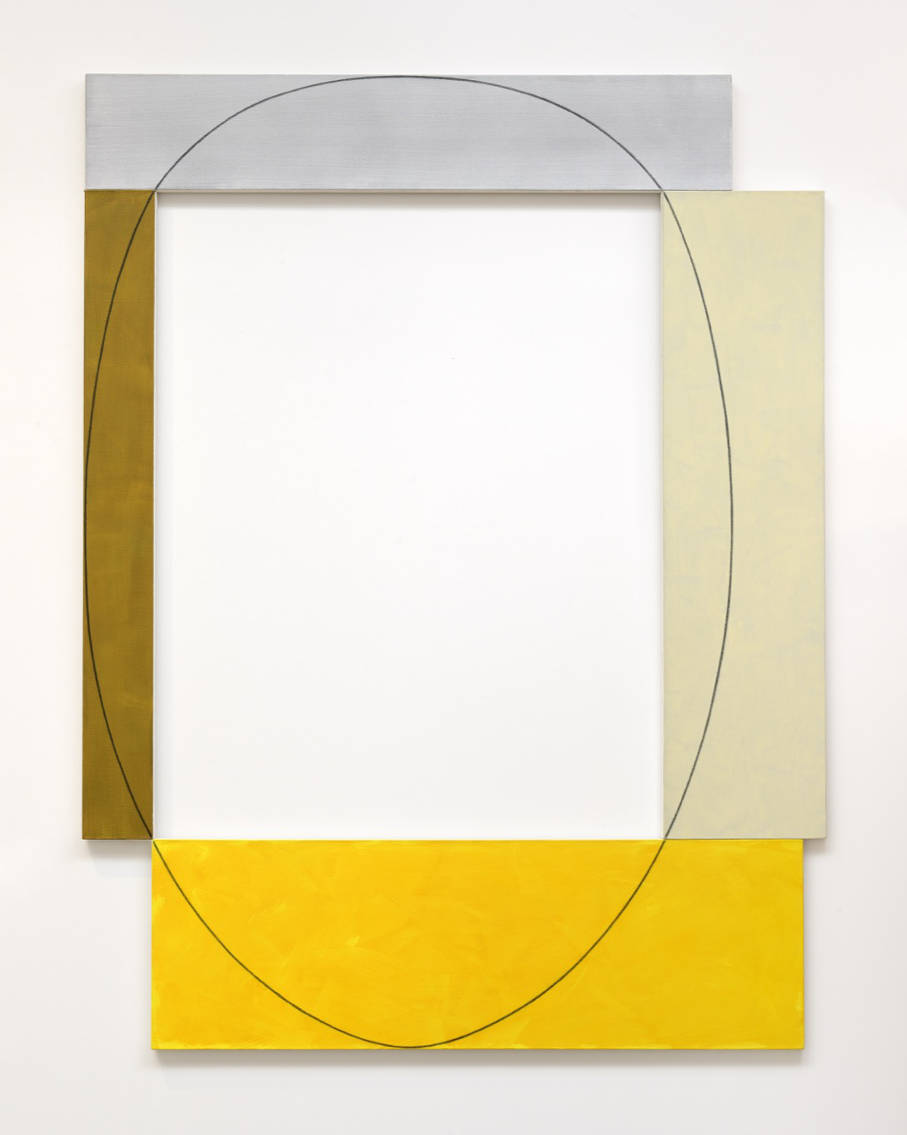 Robert Mangold, Four Color Frame Painting, 1985. Acrylic and black pencil on canvas 240 x 182,9 cm (94,49 x 72,01 in) © Robert Mangold / ADAGP, Paris, 2018. Photo: Charles Duprat. Courtesy Galerie Thaddaeus Ropac, London · Paris · Salzburg