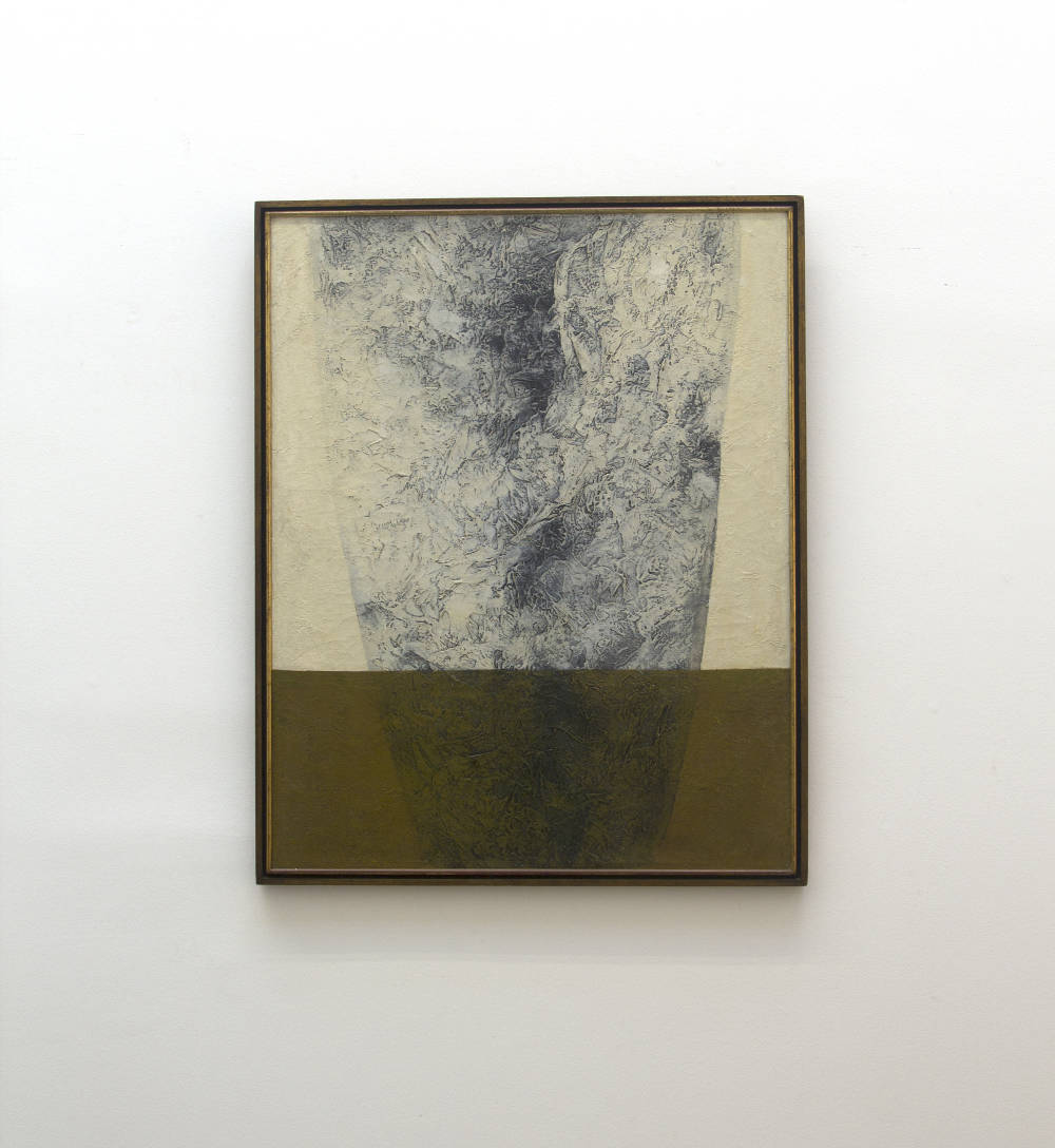 Tomie Ohtake, Untitled, 1969. Oil on canvas 36.2 x 26.4 in/92 x 67 cm. Courtesy of the artist and Galeria Nara Roesler