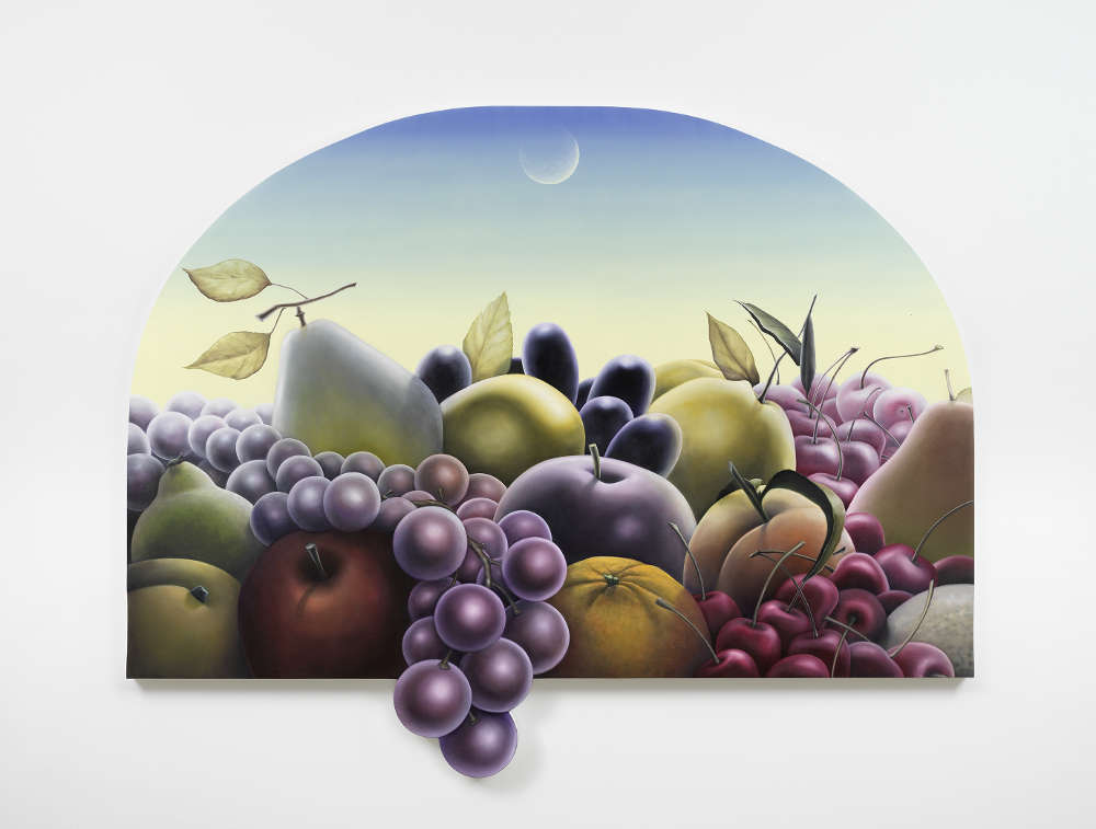 Emily Mae Smith, Fruits of Labor, 2018. Oil on linen h. 193 × L. 254 cm, h. 76 × l. 100 in. Courtesy of the artist and Perrotin.