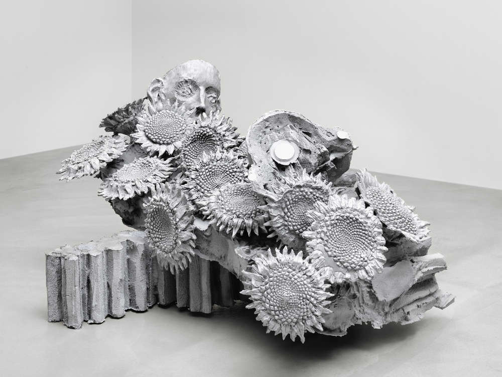 Jean-Marie Appriou, The gear of the suns, 2018. Cast aluminum 100 x 180 x 140 cm / 39 3/8 x 70 7/8 x 55 1/8 in © Jean-Marie Appriou. Courtesy the artist and Galerie Eva Presenhuber, Zurich / New York
